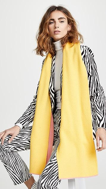 Tibi Reversible Double Jacquard Wool Scarf
