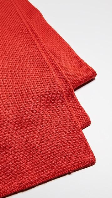 Tibi Double Jacquard Wool Scarf