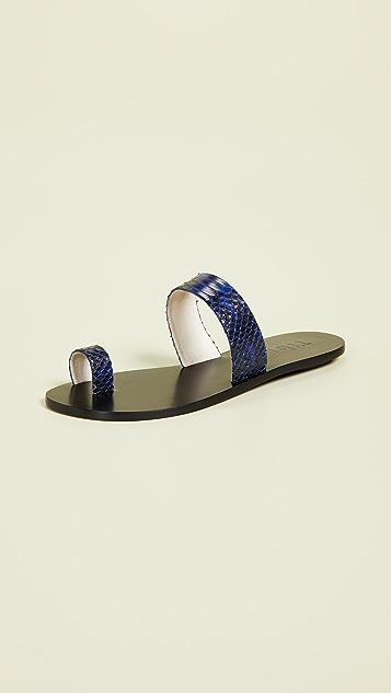 Tibi Cedric Toe Ring Slide Sandals