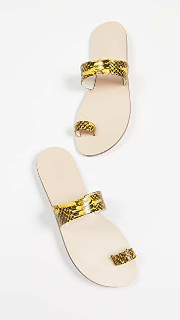 Tibi Cedric Toe Ring Slide Sandals