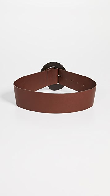 Tibi Thick Leather Belt