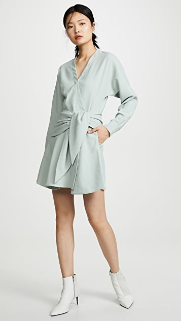 Tibi Dresses Short Wrap Dress