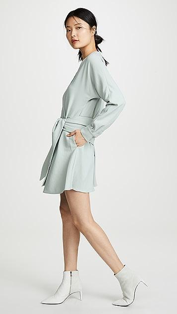 Tibi Short Wrap Dress