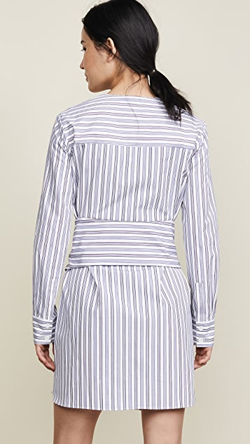 Tibi V Neck Shirtdress