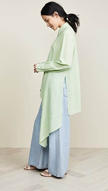 Tibi Asymmetrical Shirt