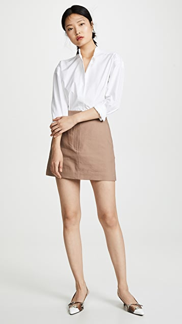 Tibi Miniskirt with Removable Tie