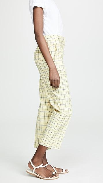 Tibi Taylor Mid-Rise Pants