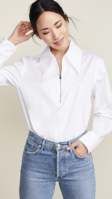 Tibi Front Zip Shirt