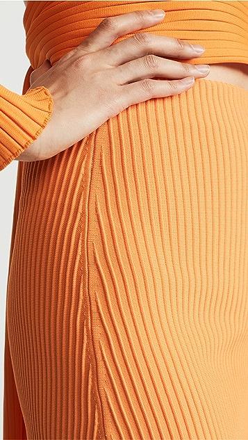 Tibi Юбка из ткани в рубчик