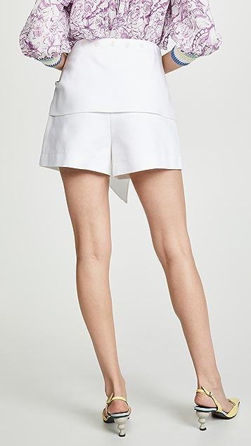 Tibi 可拆卸腰带短裤
