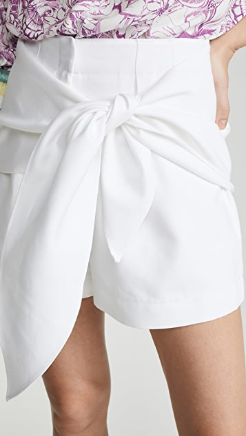 Tibi Shorts with Removable Belt