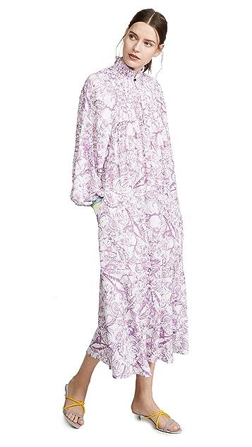 Tibi Edwardian Dress with Ribbed Cuffs