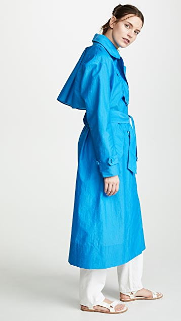 Tibi Windbreaker Trench