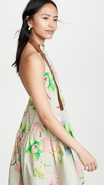 Tibi Short Halter Neck Dress