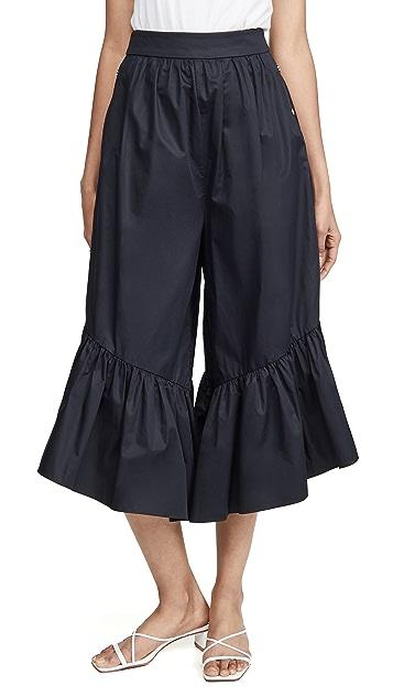 Tibi 荷叶边裤裙