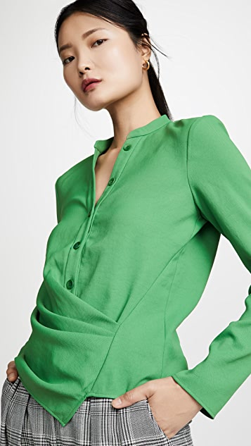 Tibi Draped Blouse