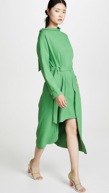 Tibi Removable Apron Dress