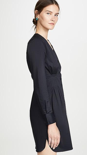 Tibi Dominic 斜纹衬衣连衣裙