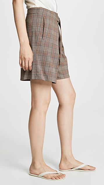 Tibi Pleated Relaxed Shorts