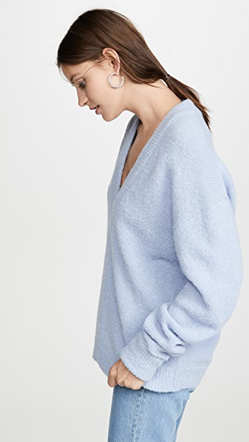Tibi Alpaca V Neck Pullover
