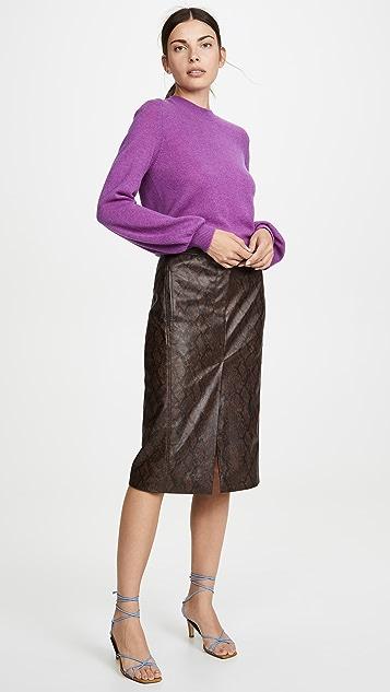 Tibi Python Trouser Skirt