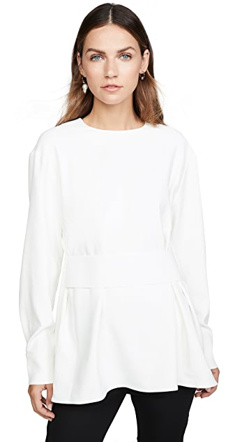 Tibi Peplum Top w Side Zippers