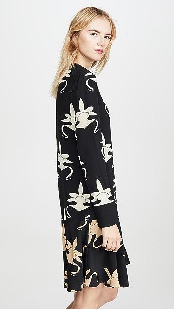 Tibi Платье с заниженной талией и кокеткой