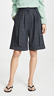 Tibi Pleated Shorts