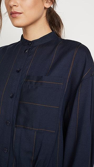 Tibi Shirtdress with Bib Detail