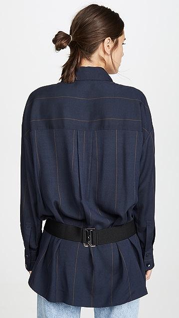 Tibi Двухслойная рубашка