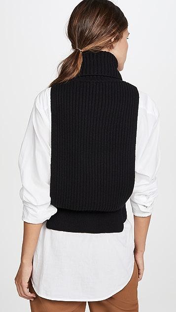 Tibi Apron Turtleneck Dicky Sweater