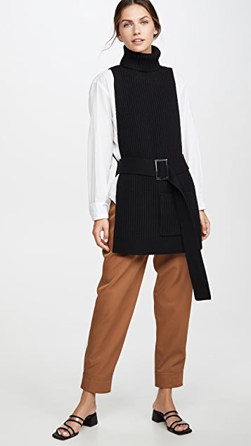 Tibi Apron Turtleneck Dicky Sweater