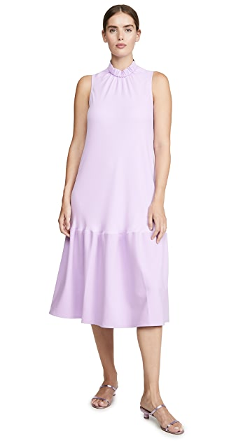 Tibi Sculpted Drape Long Dress