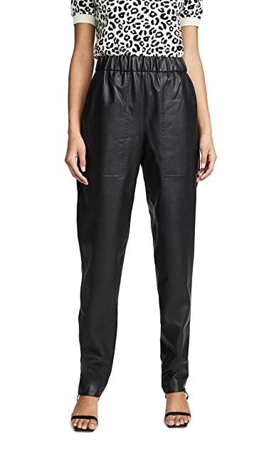 Tibi Faux Leather Joggers