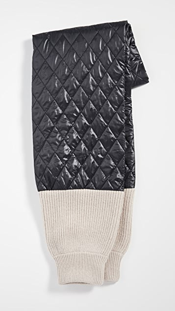 Tibi Knit Sleeve Quilting Scarf
