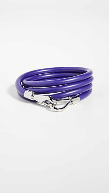 Tibi Rubber Tube Belt