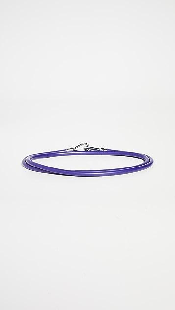 Tibi 橡胶管形腰带