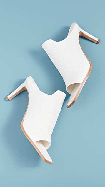 Tibi Andre Ostrich Shoes
