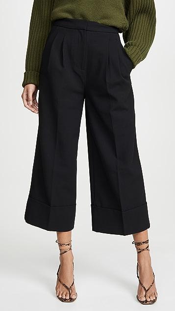 Tibi 翻边礼服式裤子