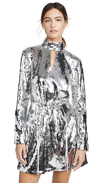 Tibi Короткое платье с рассеченным вырезом