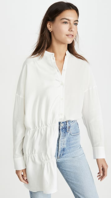 Tibi Shirred Panel Tunic
