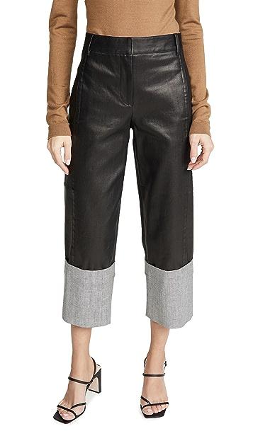 Tibi Cuffed Nerd Pants