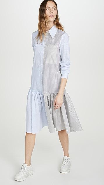 Tibi Colorblock Shirtdress