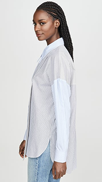 Tibi Easy Shirt with Zipper Detail
