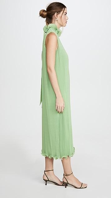 Tibi 无袖褶皱连衣裙