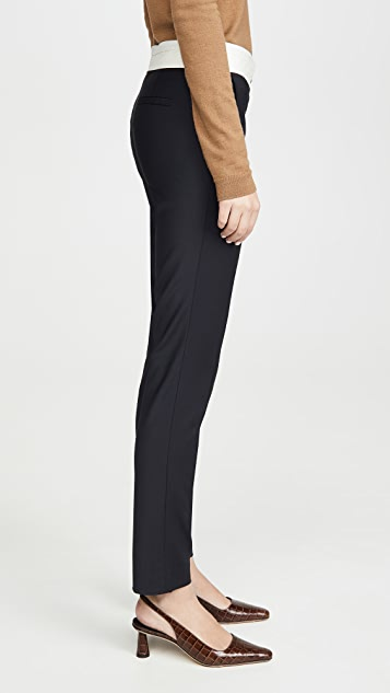 Tibi Beatle Pants with Waistband Detail