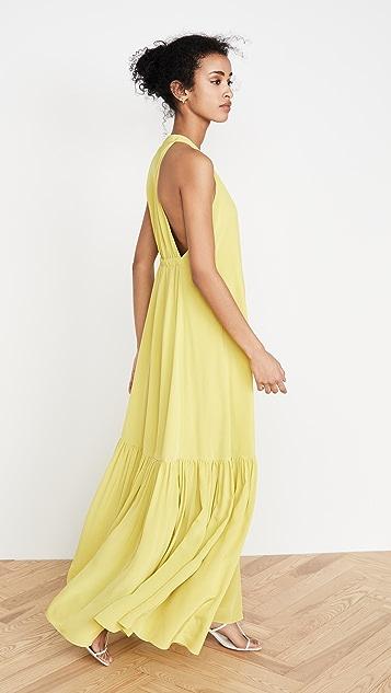 Tibi Длинное платье с американской проймой