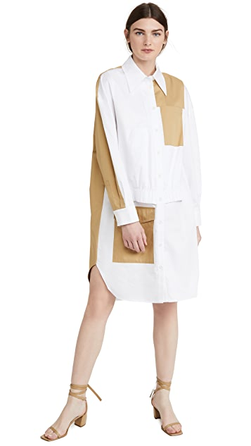 Tibi Double Layer Pocket Dress