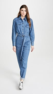 Stone Enzyme Denim Jumpsuit