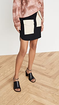 Bond Stretch Patched Skirt